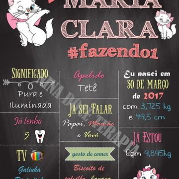 Arte Digital - Chalkboard Personalizado Marie