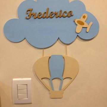 Enfeite maternidade de AVIADOR com balão