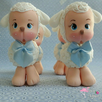 Lembrancinhas ovelhinha em biscuit - apliques