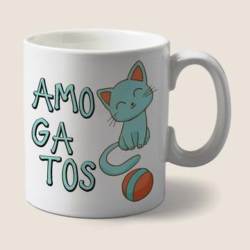 Caneca Amo Gatos