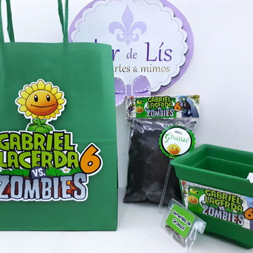 Kit Plantação Sacola Plants vs Zombies