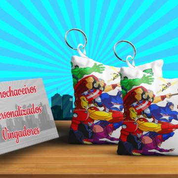 Vingadores Cute Chaveiro Almofada Personalizado