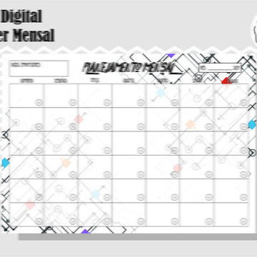 PLANNER MENSAL 11 - ARTE DIGITAL