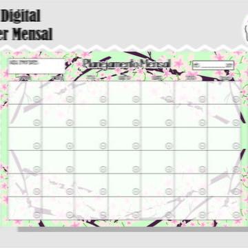 PLANNER MENSAL 12 - ARTE DIGITAL