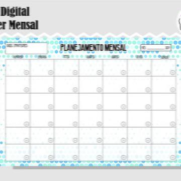 PLANNER MENSAL 13 - ARTE DIGITAL