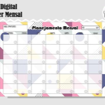 PLANNER MENSAL 14 - ARTE DIGITAL