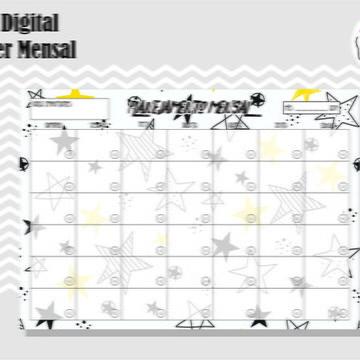 PLANNER MENSAL 15 - ARTE DIGITAL