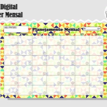 PLANNER MENSAL 16 - ARTE DIGITAL