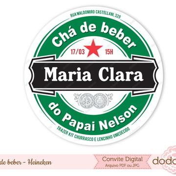 Convite Digital Chá Bar Heineken