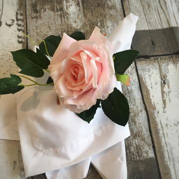 Porta guardanapo flor rosa delicada