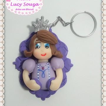 Chaveiro Princesa Sofia em Biscuit - LB087LS