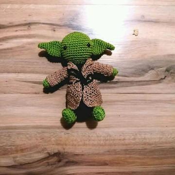 Mestre Yoda de croche amigurumi