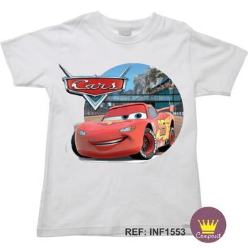 Camiseta Infantil Carros McQueen 01