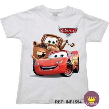 Camiseta Infantil Carros McQueen 02
