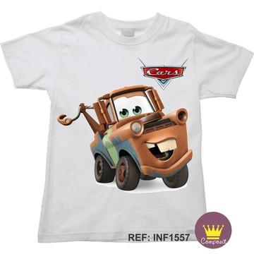Camiseta Infantil Carros McQueen 05