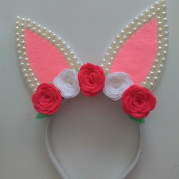 Tiara orelhas de coelho