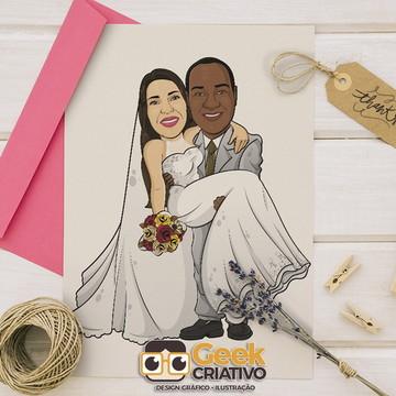 Caricatura Digital de Casal para Casamento