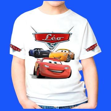 camiseta personalizadas Carros 4