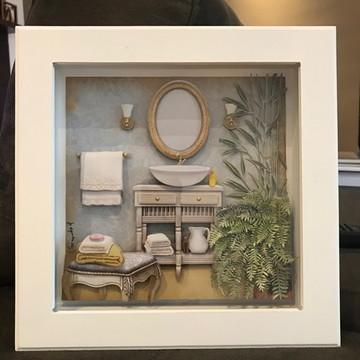 Quadro arte francesa lavabo