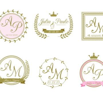 Monograma/Emblema Personalizado - Casamento ou Noivado (004)