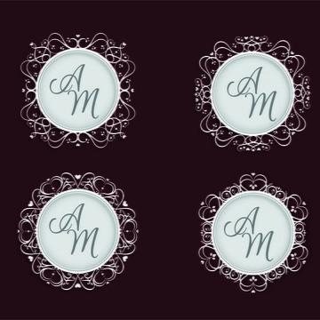 Monograma/Emblema Personalizado - Casamento ou Noivado (007)