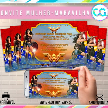 Mulher Maravilha (Wonder Woman) - Convite Digital