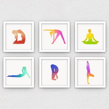 Conjunto de Quadros: Yoga
