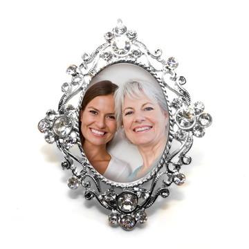 Medalha Buque com foto e vidro relicário pronta entrega