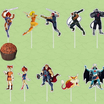 Topper Thundercats Plaquinha Doces