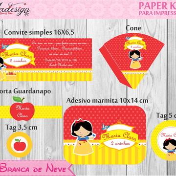 Branca de neve - Paper Kit