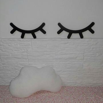 Kit Almofada Nuvem + Cilios Plaquinha Sleepy Eyes