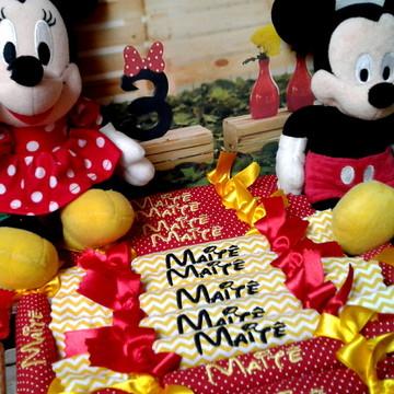 Bala Bordada Tema Minnie e Mickey
