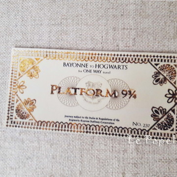 Ticket Plataforma Harry Potter