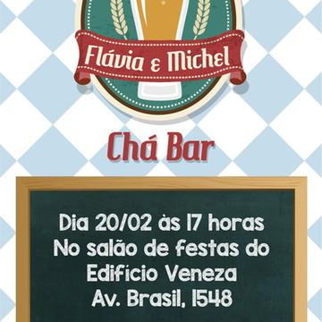 Convite Chá Bar Tema Boteco