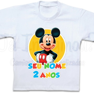 Camiseta para festa infantil Mickey