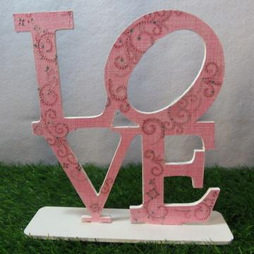 LOVE em MDF com Decoupagem