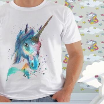 760d36553b Camiseta de Unicórnios (Adulto e Infantil)  157