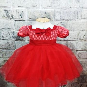 e718912a1632 Vestido Minnie VERMELHO OU ROSA PINK Tam. 3 PRONTA ENTREGA