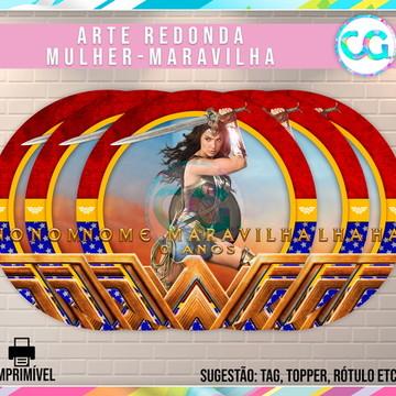 Mulher Maravilha (Wonder Woman) - Arte Redonda Digital