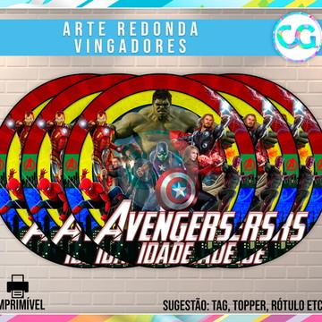 Avengers (Vingadores) - Arte Redonda Digital