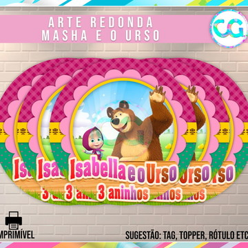 Masha e o Urso - Arte Redonda Digital
