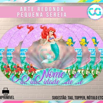 Pequena Sereia - Arte Redonda Digital
