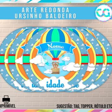 Ursinho Baloeiro - Arte Redonda Digital