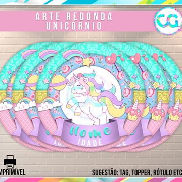 Unicórnio - Arte Redonda Digital