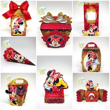 Kit Minnie Vermelha (40 peças)