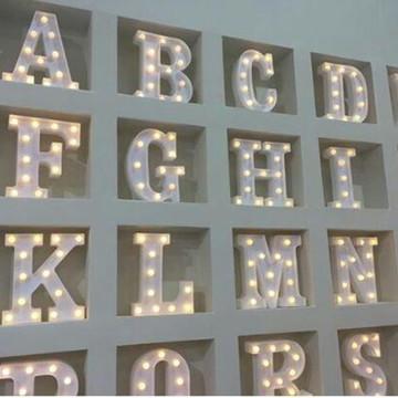 1 Letra Luminaria 3d Luminoso Led Pilha Decoração Festa Nome