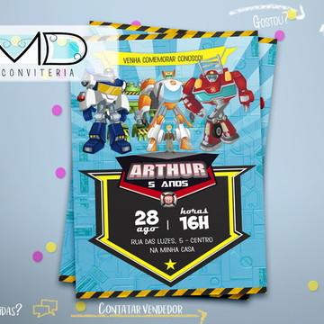 Convite Transformers Sem Envelope
