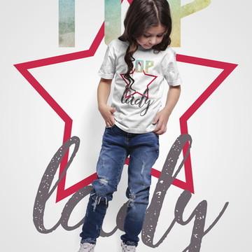 2c25dd9c98 Camisa infantil Top Lady
