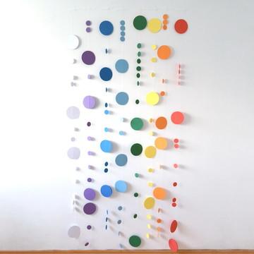 Varal de Círculos - Arco-íris