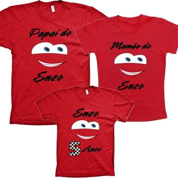 Camisetas Personalizadas Familia Mcqueen Carros aniversario
